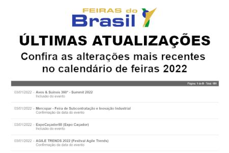 Últimas Atualizações - Calendário Feiras do Brasil 2020