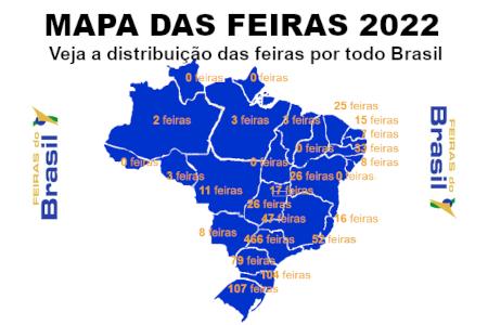 Feiras do Brasil - Mapa das Feiras: veja a distribuição das feiras por todo Brasil
