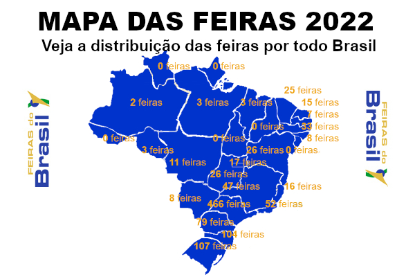 Mapa das Feiras
